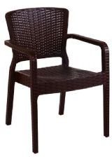 Antares Thermo Plastic Stacking Armchair in Wenge